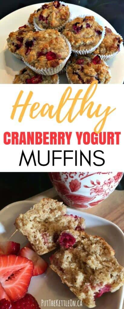Healthy Cranberry Yogurt Muffins
