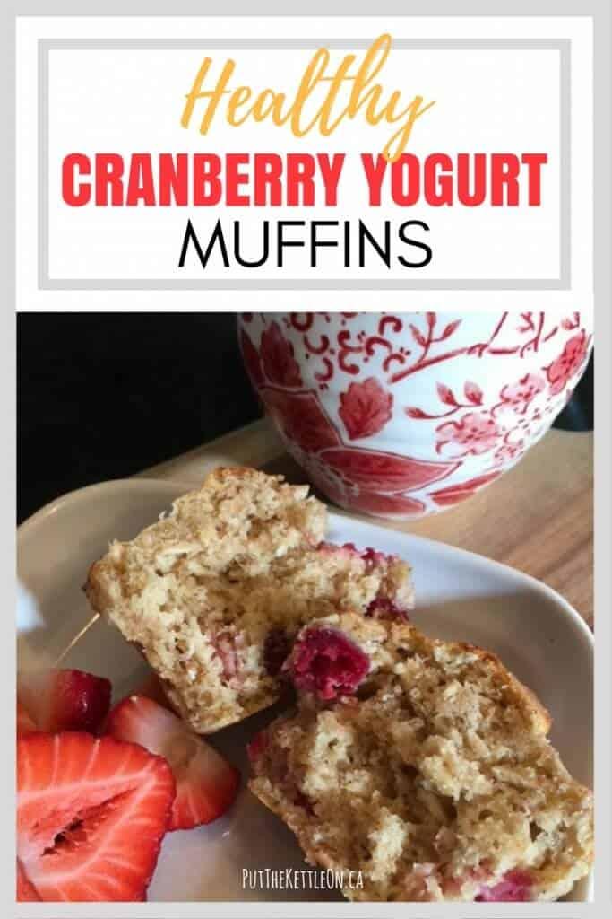 Healthy Cranberry Yogurt Muffins