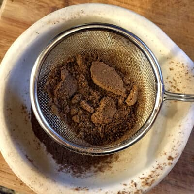 sift ground Indian spices