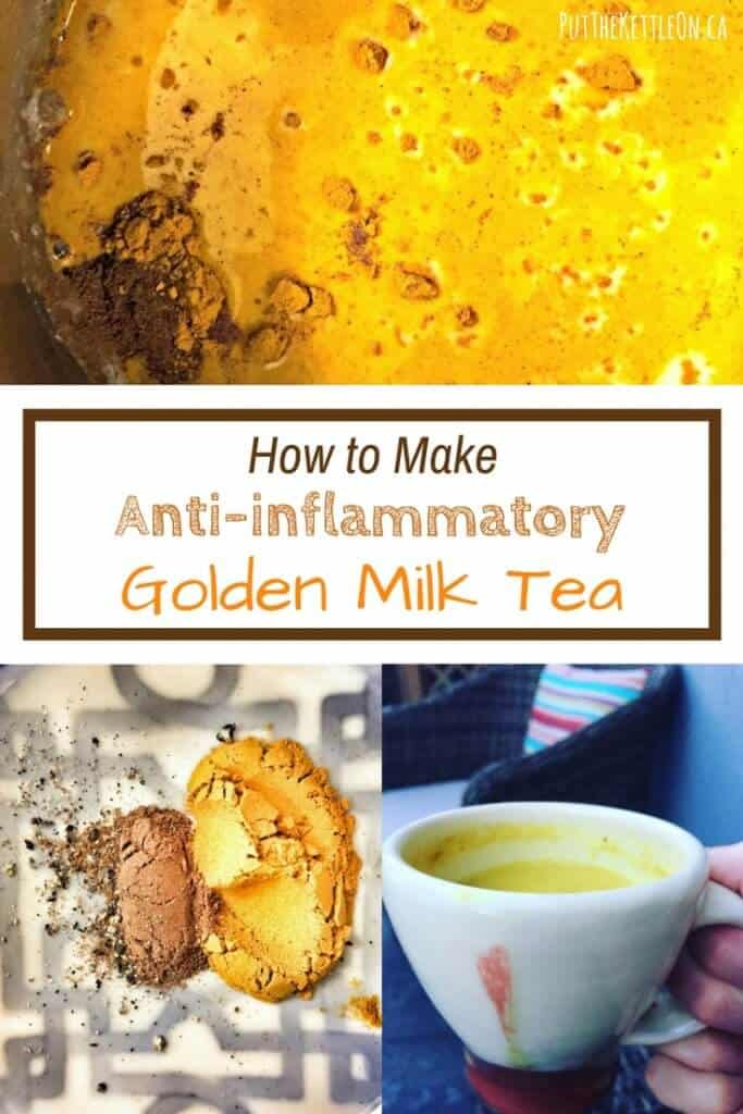 How to make anti-inflammatory golden milk tea.