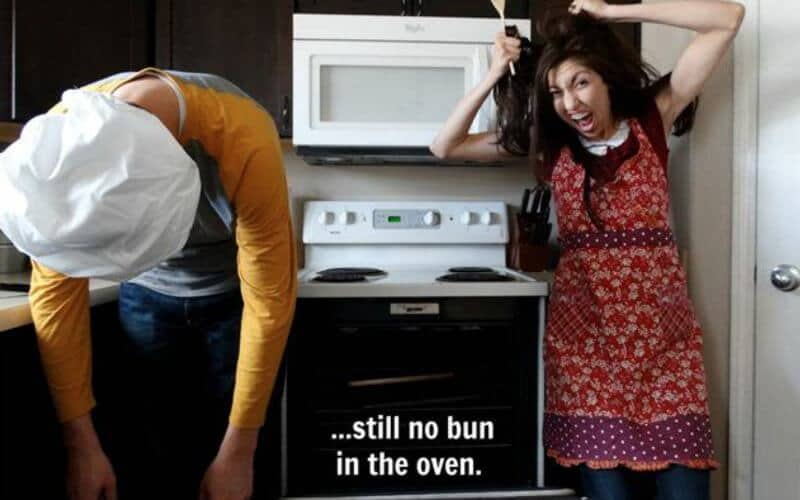 Couple finds humour in infertility with pregnancy announcement parodies