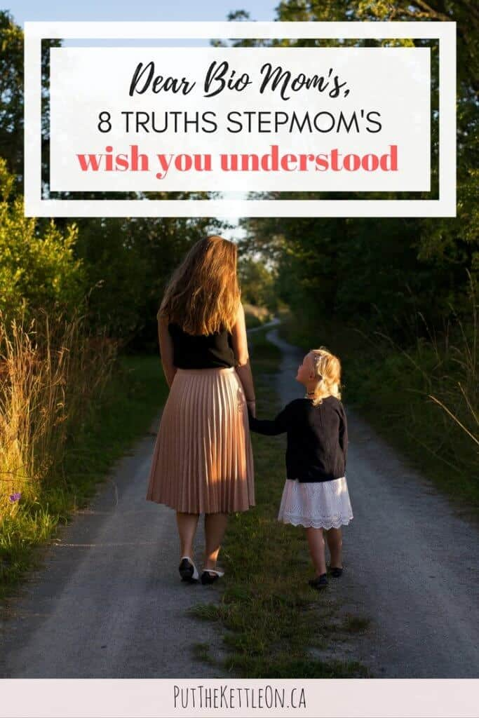 Dear Bio Mom's. 8 Truths Stepmom's Wish You Understood. Woman and little girl holding hands looking at each other.