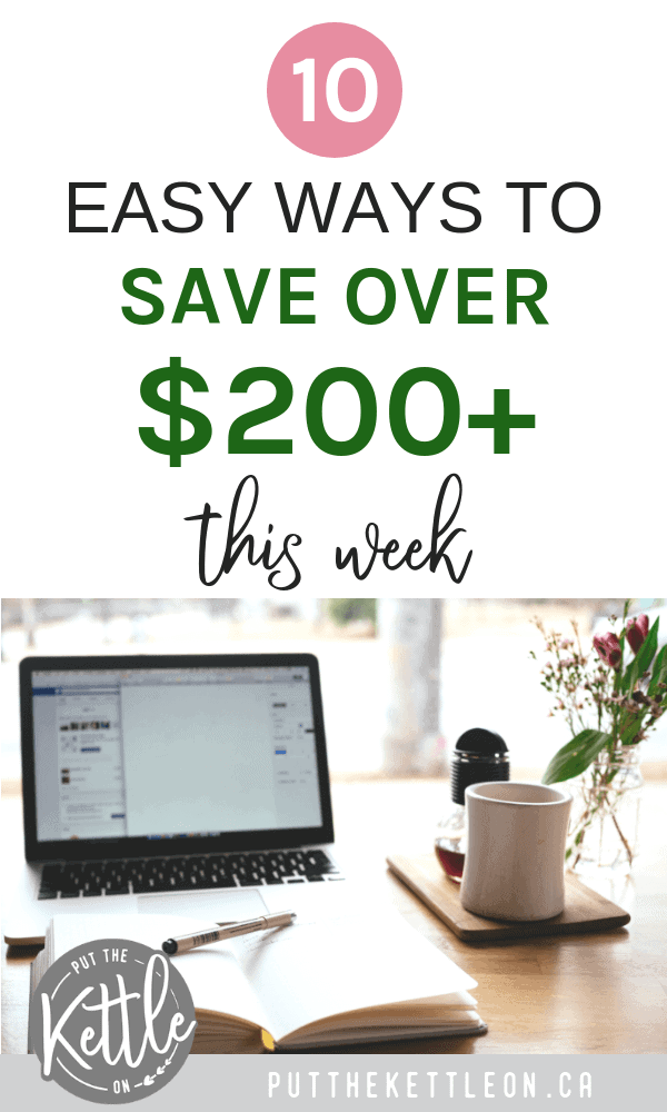 10 Simple Ways to Save Money This Week