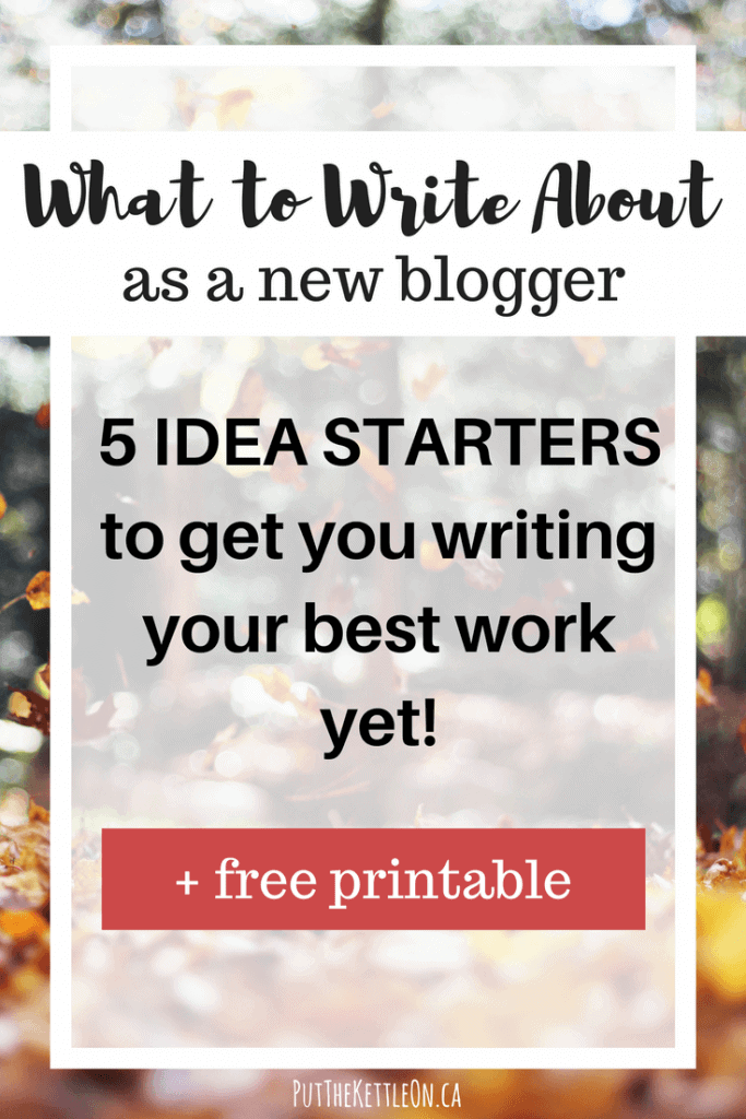 What to Write about as a New Blogger.