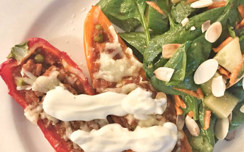 Weeknight Turkey and Marinara Stuffed Peppers