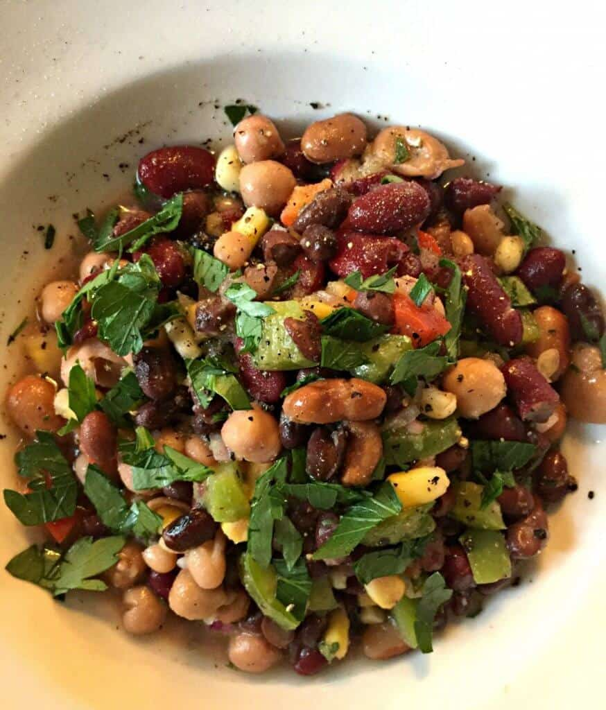 Simple and Delicious Mexican Bean Salad - PutTheKettleOn.ca