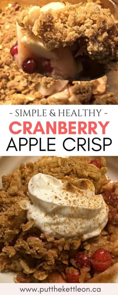Simple and Healthy Cranberry Apple Crisp