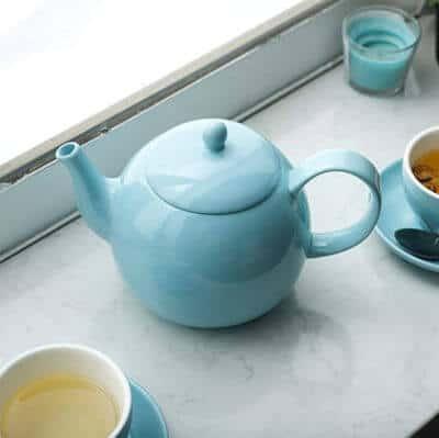 Turquoise tea pot