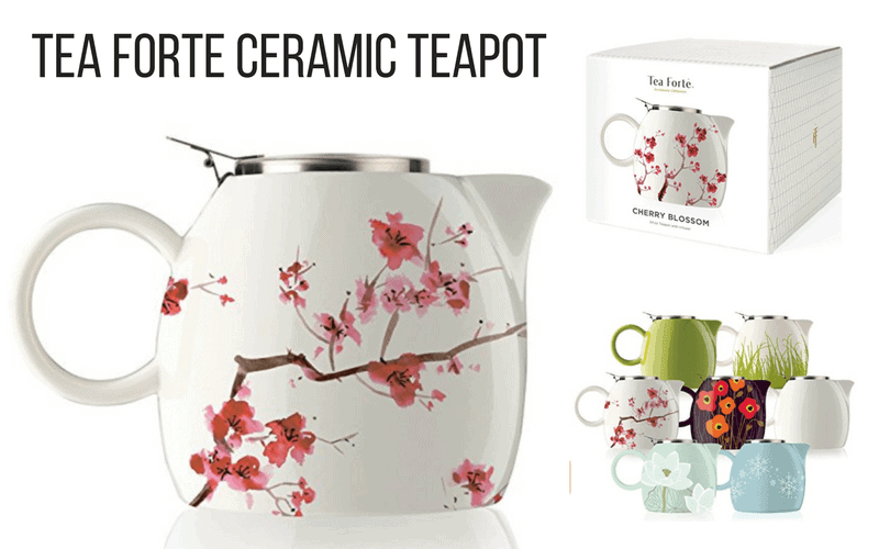 Tea Forte Ceramic Teapot - Unique Gifts for Tea Lovers