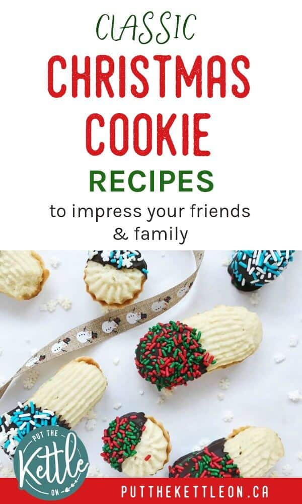 These traditional Christmas cookie recipes will have your friends and family coming back for more. Includes classic cookies such as gingerbread, spritz, sugar cookies, peppermint crinkle cookies and more! Give these easy cookie recipes a try this holiday season! #christmascookies #holidaycookies #holidaybaking #christmasbaking #christmasrecipes #holidayrecipes