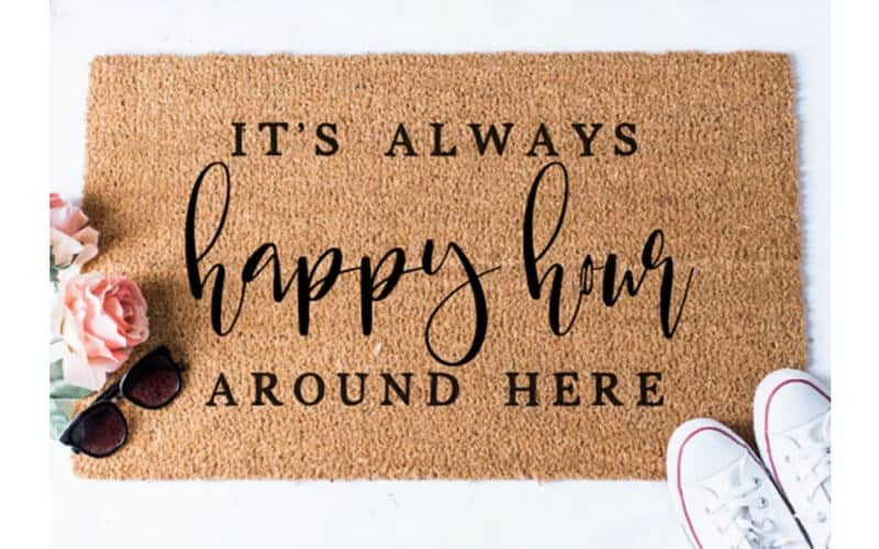 Happy Hour Door Mat