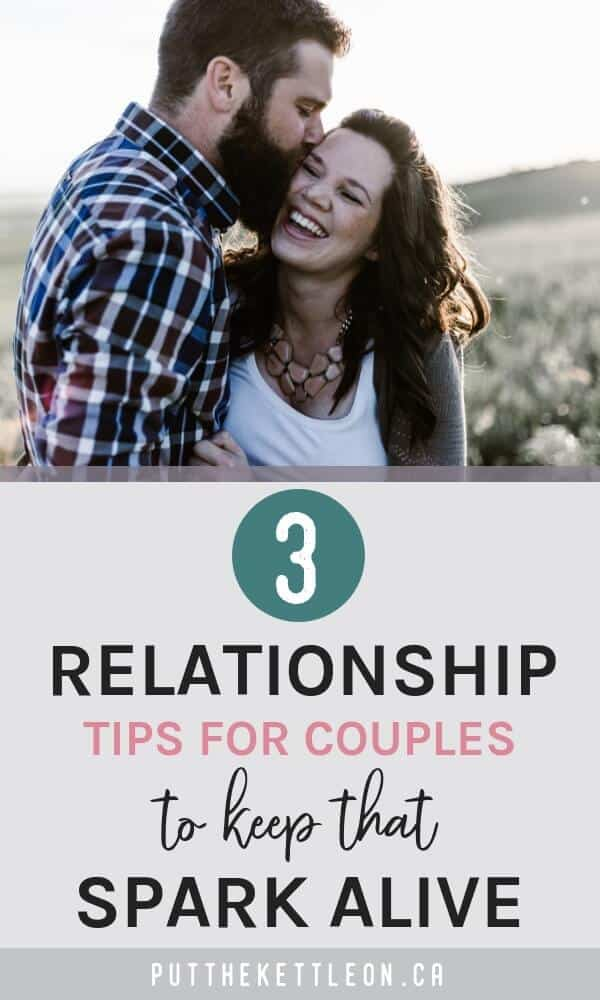 Couple hugging - 3 relationship tips for couples to keep that spark alive.