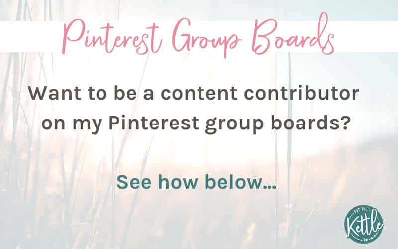 Pinterest Group boards. Want to be a content contributor on my Pinterest group boards? See how.
