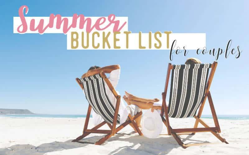 Summer bucket list for couples. Couple on beach.