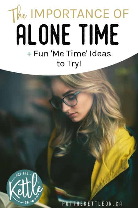 Blonde woman reading. The importance of alone time plus me time ideas to try.