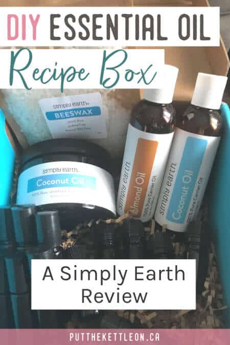DIY Essential Oil Recipe Box. A Simply Earth review