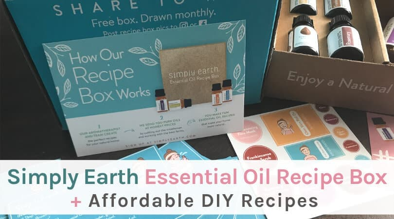 Simply Earth essential oil recipe box review, plus affordable DIY recipes