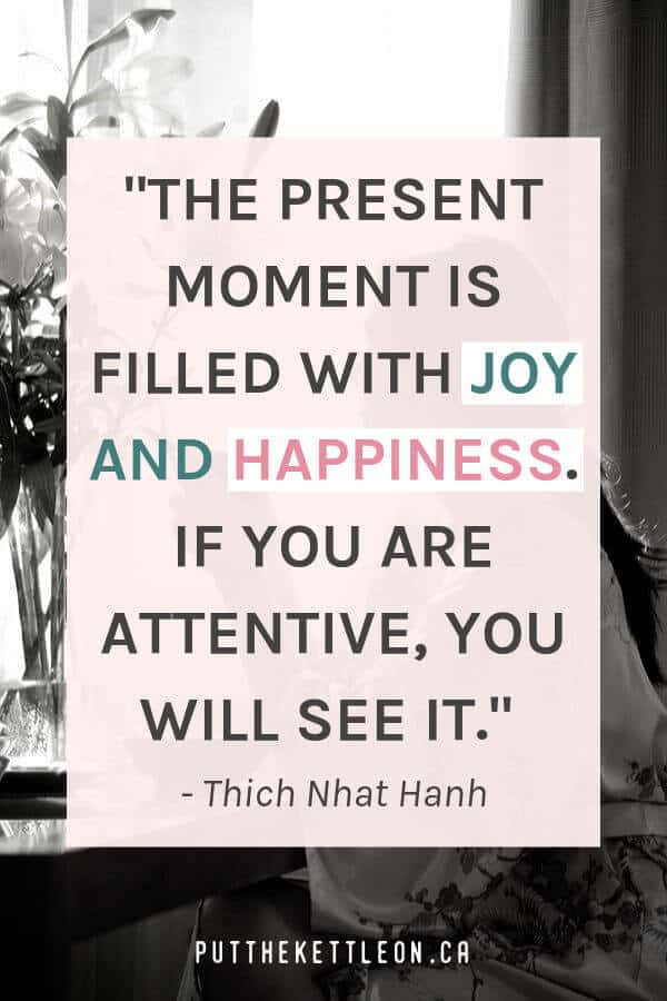 Thich Nhat Hanh quote_ The Present Moment is filled with joy...