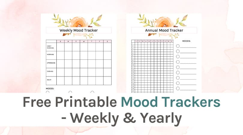 This is a graphic of Printable Mood Chart for activity mood monitoring