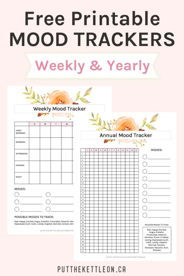 Free printable mood trackers - weekly and yearly