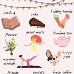 Simple pleasures in life list (infographic)